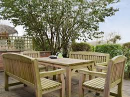 furniture on the patio duck pond cote glebe farm barns exhall near alcester stratford upon avon