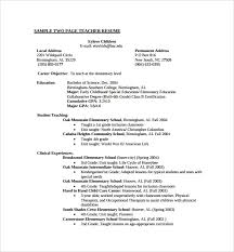 Example Teaching Resumes Sample Teaching Cv Template 8 Download Free Documents In