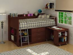 Charleston Loft Bed with Desk   Elevated Loft Bed   Charleston Storage Loft  Bed with Desk