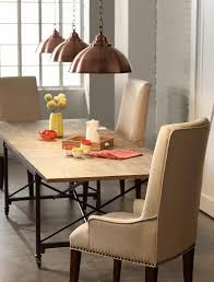 marble dining room table darling daisy: style trend of large pendants over a dining room table