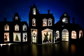 christmas house template paper christmas village templates adventure in a box