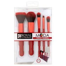 royal and langnickel mÅ da perfect mineral professional makeup brush set 6 count red