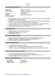 Chartered Accountant Resumes Free Resume Sample Ca Chartered Accountant 2 Free Resume