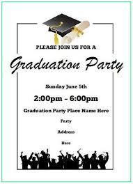 Templates For Graduation Invitations Graduation Invitation Templates Microsoft Word Commencement