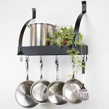 decorating impressive pot and pan rack