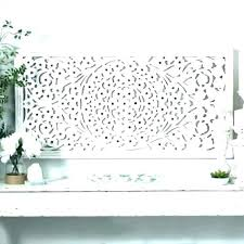 white carved wall decor round whitewash whitewashed wood