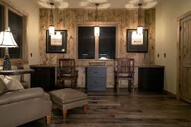 home office light. rustic home office with professoru0027s leather chair nailheads hardwood floors builtin light