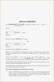 House Contract Form Sample Of House Rental Contract And Home Lease With Format