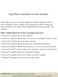 Cover letter for room attendant job First