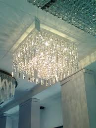 square crystal chandelier