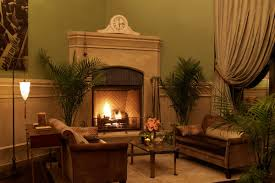 club room fire place soho grand hotel