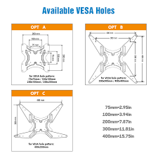 "Vesa Pattern Fascinating PERLESMITH TV Wall Mount For 4848""TVs With Swivel Extends 4848"