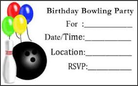 Bowling Party Invitations Free Bowling Party Invitations Lovetoknow