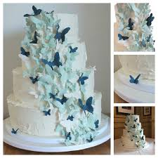 Blue Butterfly Wedding Cake Cakecentralcom