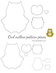 Owl Outline Pattern Template Drawing Printable