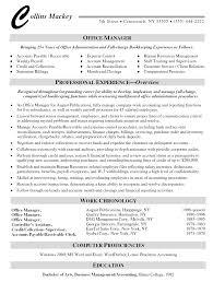 Office Manager Resume Office Sample Resume Cover Letter