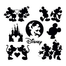 Art & Collectibles Clip Art mickey mouse silhouette mickey mouse bundle mickey  mouse svg