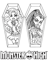Small Picture Monster High Clawdeen Wolf And Nefera De Nile Coloring Page H