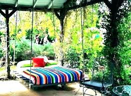 outdoor swing bed set exotic canopy patio umbrella replacement
