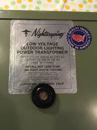 Nightscaping Low Voltage Lighting Nightscaping T 100 8lc Outdoor Low Voltage Garden Lighting Transformer 12v 100w For Sale Online Ebay