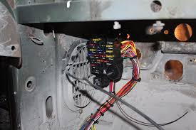 untangled wiring a classic corvette street tech magazine the fuse box mounts to the firewall 2 bolts it can be