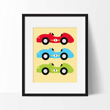 Race Car Room Decor Race Cars Nursery Art Printable Race Car Nursery Decor Boy