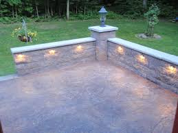 patio wall ideas best of stone knee wall for patio retaining wall image 2 of patio