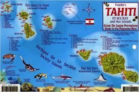 tahiti & society islands dive map & reef creatures guide franko Where Is Tahiti On The Map tahiti & society islands dive map & reef creatures guide franko maps laminated fish card franko maps ltd 9781601902214 amazon com books tahiti on map