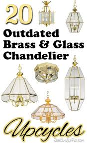 20 fantastic ideas for what you can create out of those outdated 70s brass and glass a chandelier c78