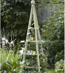 garden obelisk trellis. Wooden Garden Obelisk In Sage Trellis E