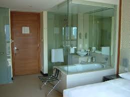 vida downtown glass partition for bathroom