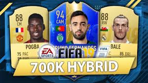 INCREDIBLE 700K HYBRID w/ TOTS BRUNO FERNANDES! FIFA 19 SQUAD BUILDER