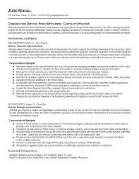 Communications Resume Template Crisis Plan Example Sample