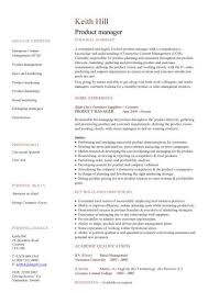 Product Manager Resume Stunning Product Manager CV Sample