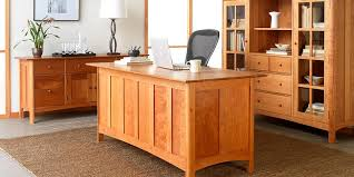 mission style solid oak office computer. Solid Wood Home Office Desk. Great Cherry Furniture Desks Vermont Woods Studios Mission Style Oak Computer