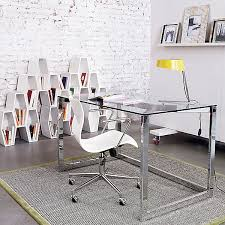 large glass office desk. chrome office desk 20 stylish home computer desks large glass r