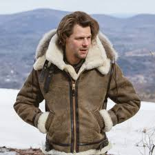 b 3 hooded sheepskin er jacket