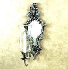 silver wall sconces for candles sconce candle holder ca mirrored