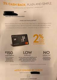 These offers require you to meet a minimum spending requirement and are generally only available when you open a card. Synchrony Launches 2 Cash Back Credit Card 150 Signup Bonus Not Yet Publicly Available Doctor Of Credit