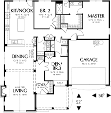 Single Story Cottage Plan With Two Car Garage  69117AM Floor Plans With Garage