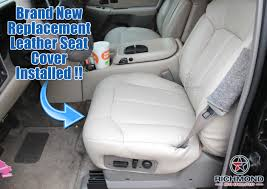 1999 2002 chevy silverado lt ls z71 leather seat cover driver bottom tan