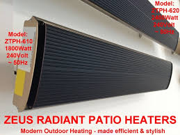 qty 4 1800watt ztph 610 zeus radiant heaters 946 20 aud