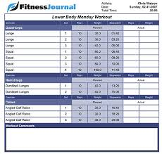 Work Out Journal Fitness Journal Weight Training Journal Keep Track Of