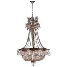 antique french empire chandelier french empire basket style collection light antique bronze finish and clear crystal