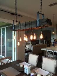 dining room lighting no chandelier. an edison light inspired railroad tie chandelier -----description----- return policy: no returns or cancellations can be made after item has been made. dining room lighting