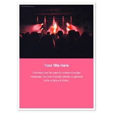 Concert Invite Template Concert Invitations Cards On Pingg Com