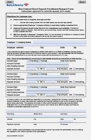 Direct Deposit Template Free Wells Fargo Direct Deposit Form Free Download 60 Template