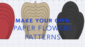 Paper Flower Pattern Awesome Make Your Own Paper Flowers Pattern In Design Space YouTube