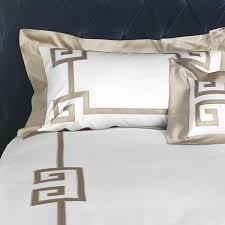 greek key bedspread set