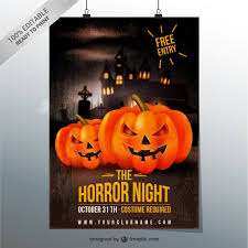 halloween template flyer horror night flyer template vector free download